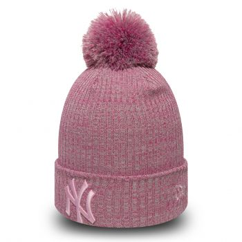 New Era Wmns Knit NY Yankees, kapa, roza